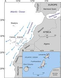 Map Of Western Africa by A Location Of The Canary Islands Off The West Coast Of Africa