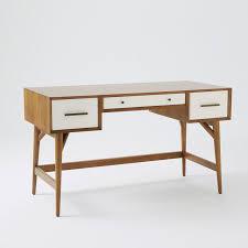 Mid Century Office Furniture by Mid Century Desk Acorn White West Elm