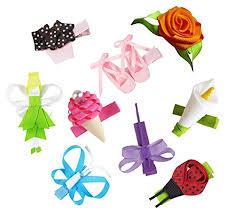 girl hair bows hipgirl 9pc 1 75 ribbon scrulpture hair bow clip
