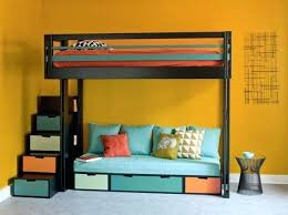 lit en hauteur avec canapé lit superpose canape lit mezzanine canape lit superpose canape