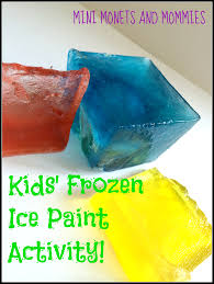 mini monets mommies frozen color mixing abstract art