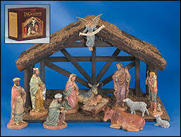 nativity sets 12 pc nativity set with wood stable nativities