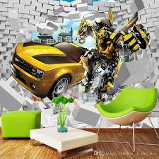transformers bedroom transformers photo wallpaper bumblebee wall mural 3d bricks