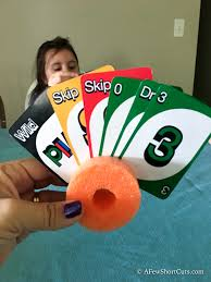 simple diy pool noodle playing card holder for kids playing card