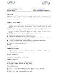 Sample Resume For Ccna Certified 100 Resume For Network Engineer Noddleplace It Network
