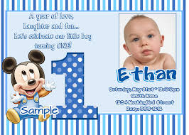 Invitations Cards Free Mickey Mouse 1st Birthday Invitations Baby Mickey Mouse 1st