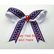 fourth of july hair bows 4th of july cheer hair bow 4th of july bow hair bow