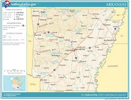 us map with arkansas united states geography for arkansas