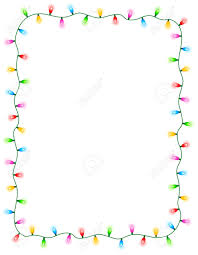 colorful glowing christmas lights border frame colorful holiday