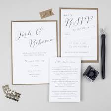 wedding invitation suite calligraphy wedding invitation suite pear paper co