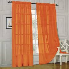 Pennys Drapes Decor Orange Penneys Curtains With Dark Curtain Rods And