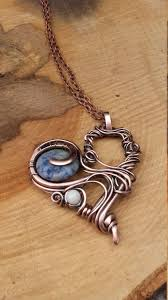 wire jewelry necklace images Heart wire wrapped pendant copper pendant copper wire heart wire jpg