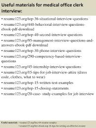 top 8 medical office clerk resume samples