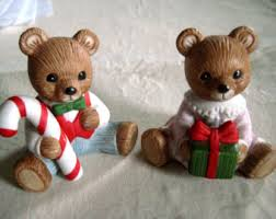 Home Interiors Figurines by Vintage Home Interior Figurine Bears Etsy