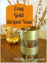 Striped Vase Gold Striped Vase Tutorial