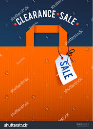 clearance sale poster percent discount illustration stock vector