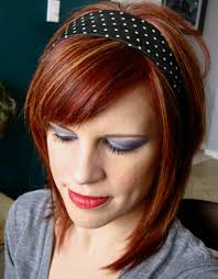 red highlights short hair hair style and color for woman