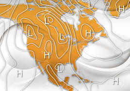 North America Weather Map by An Abstract Design Of An Sample Weather Map Of North America Stock