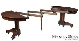 a classical highly figured rosewood pedestal extension dining room