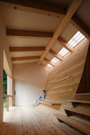kubo tsushima creates curved interior inside bathhouse