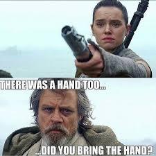 Lightsaber Meme - mark hamill loves that luke skywalker hand meme as much as you do