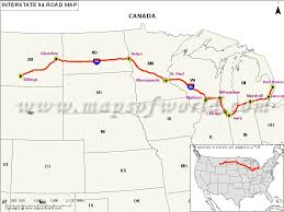 und cus map us interstate 94 i 94 map billings montana to port huron