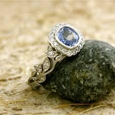 light blue sapphire engagement rings cornflower blue sapphire engagement ring in platinum with