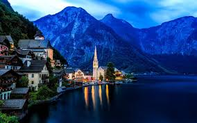 cityscape city hallstatt austria landscape wallpapers hd