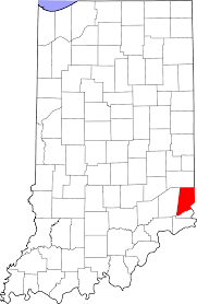 Indiana Map Usa by National Register Of Historic Places Listings In Dearborn County