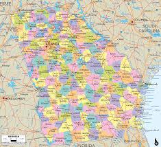 Map Of Atlanta Map Of Georgia Cities Georgia Road Map Georgia State Highway