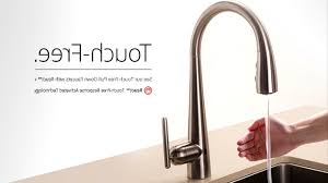 touchless kitchen faucets kitchen touch kitchen faucet intended for foremost best touch