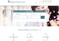 wedding registry search engine registryfinder the gift giver s online gift registry search