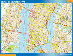 New York Street Map by Street Maps The Wall Maps Wall Maps Of The World Part 3
