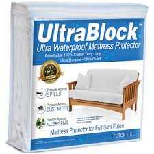 ultrablock cotton waterproof mattress protector futon full size