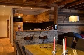 cuisine style montagne deco intérieur chalet moderne salon deco deco bois et
