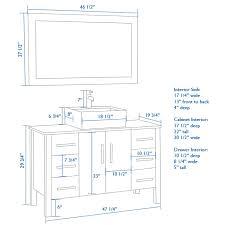 Bathroom Vanities 16 Inches Deep Bathroom Vanity Cabinet Height 2414 Standard Mirror For 908
