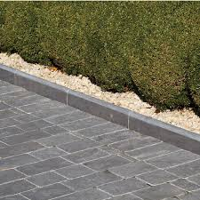 Patio Edging Options by Natural Paving Limestone Midnight Roundtop Edging