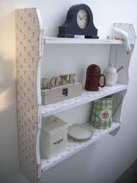 White Shabby Chic Bookcase by 70cm White Shabby Chic Small Roses Kitchen Shelves Bathroom