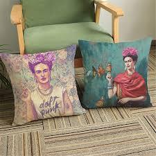 frida kahlo self portrait printed decorative office chair cushion
