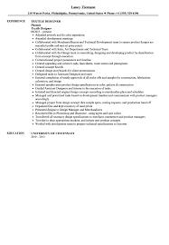 Cad Designer Resume Textile Designer Resume Sample Velvet Jobs
