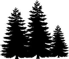clipart black tree clip library