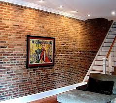 fake exposed brick wall toronto custom set furniture