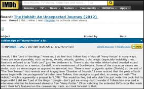 what happened to imdb message boards tolkien rips off harry potter a lot umm really between the
