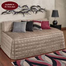 camden sand quilted hollywood daybed cover
