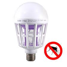 insect killer light bulb mosquito killer led bulb 220v white light e27 15w 24led 2in1