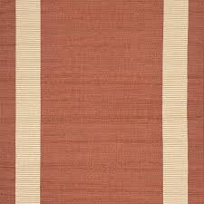 rug border in terracotta flat woven
