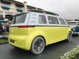 electric volkswagen van vw brings back the bus pebble beach 2018 porsche cayenne car