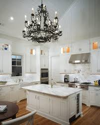 Chandelier For Cathedral Ceiling Vaulted Ceiling Kitchen Transitional Kitchen Pulliam Morris