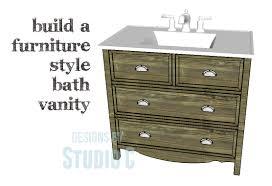 Furniture Style Vanity A Bath Vanity With Lots Of Style Plus Storage U2013 Designs By Studio C