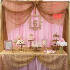 baby girl shower ideas pink and gold baby shower ideas esfdemo info